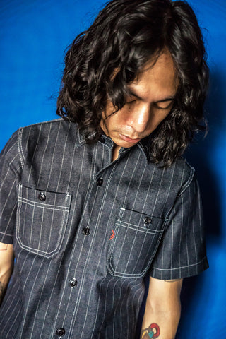 METAL PINSTRIP SHIRT