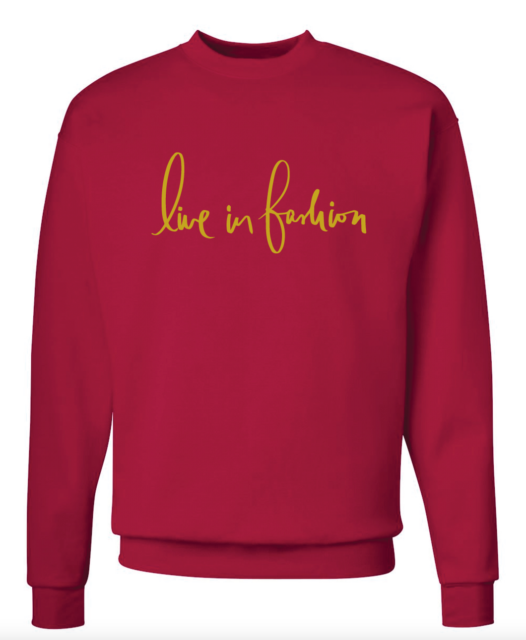 LIF GOLD FOIL SWEATSHIRT - ROSE RED