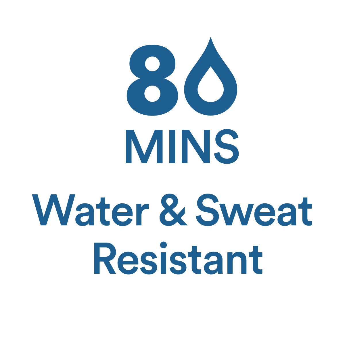Water and Sweat Resistant