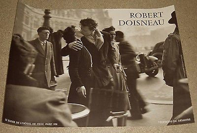 Doisneau Poster Kiss at the Hotel De Ville out of print Euro print 23.5x31.5""