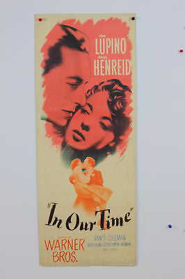 Ida Lupino In Our Time Original Movie Poster 1944