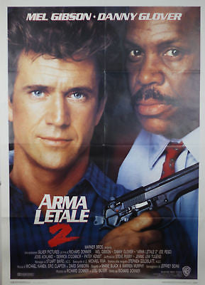 Lethal Weapon 2 GIANT SIZE Italian Movie Poster