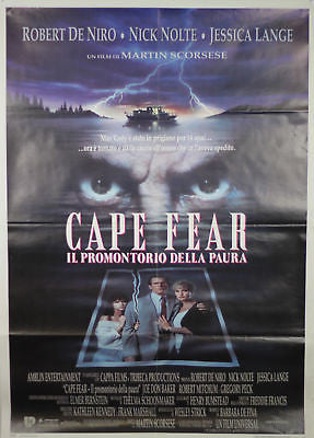 Cape Fear Deniro GIANT SIZE Italian Movie Poster