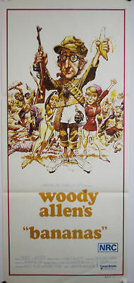 Bananas Woody Allen Australian Original Movie Poster