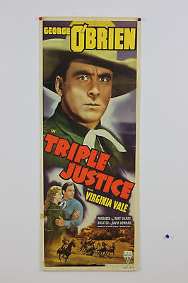 George O'Brien Triple Justice Original Movie Poster