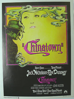 Chinatown Original Movie Poster 1974 Belgian