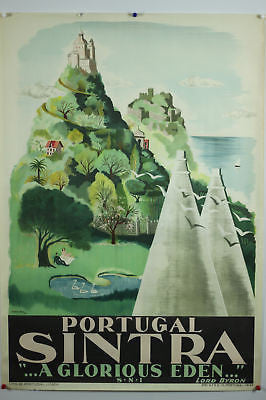 Portugal Sintra Original Vintage Travel Poster 1949