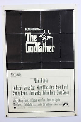 "Godfather Original Movie Poster 27x41"" One Sheet 1972"