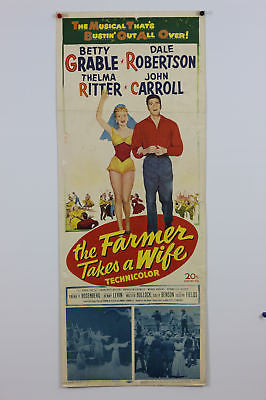 Betty Grable Farmer Takes A Wife Original Movie Poster