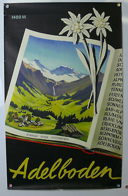 Adelboden Switzerland Original Vintage Travel Poster