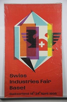 Swiss Industries Fair Original Mid Century Poster 1956