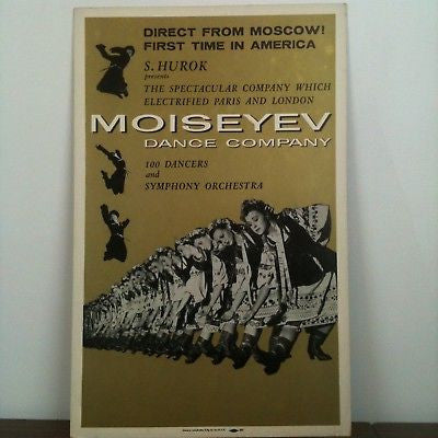 Moiseyev Dance Company Direct From Russia Poster