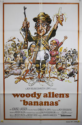 Bananas Woody Allen Original Movie Poster 27x41""