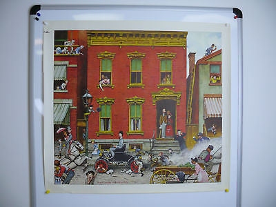 Norman Rockwell Horseless Carriage Original Print
