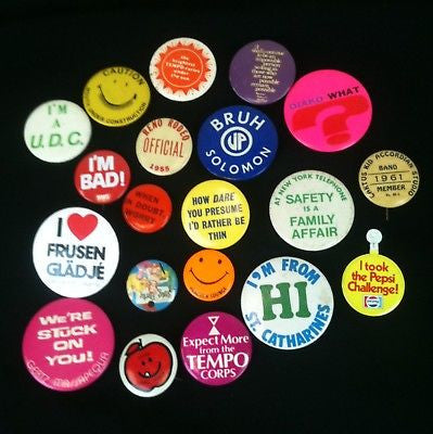 Lot Of 20 Pinback Buttons Mixed #14