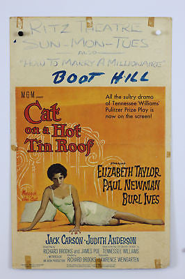 Cat on a Hot Tin Roof Original Movie Poster 1958