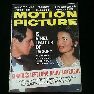 Motion Picture Magazine 1968 Jackie Kennedy, Elvis #34