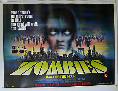 Zombies Dawn of the Dead UK Quad Original Movie Poster