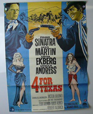 4 For Texas Original Movie Poster 1963 German? Sinatra & Dean Martin