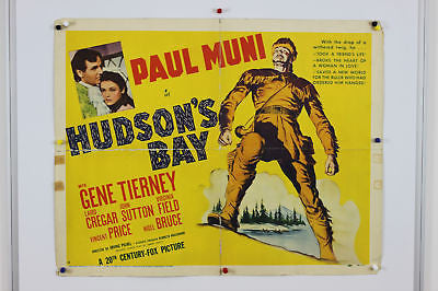 Paul Muni Hudson's Bay Original Movie Poster 1941