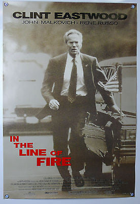 In The Line of Fire Original Movie Poster Clint Eastwood