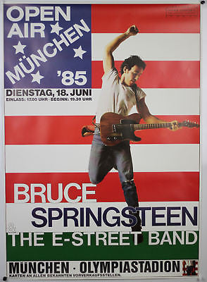 Springsteen Born in the USA Tour Munich Germany 1985 Original Concert Poster