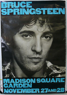 Springsteen Madison Sq Garden Original Concert Poster