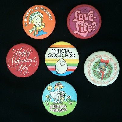 Mixed Lot Of 6 Vintage Pinback Buttons #20