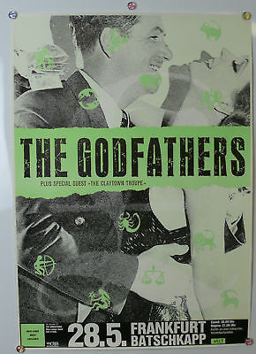 The Godfathers Original German Concert Poster 1980s