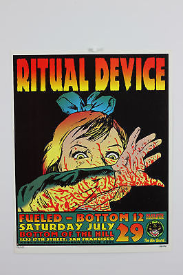 Ritual Device Poster 1995 signed by Kozik  #1136/1425