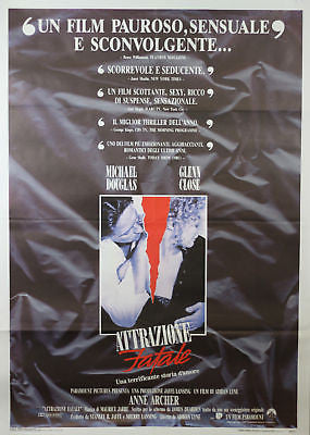 Fatal Attraction GIANT SIZE Italian Movie Poster