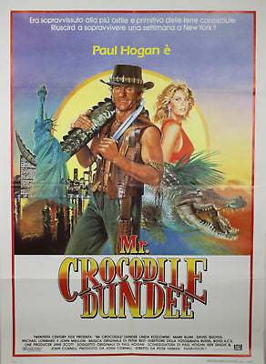 Crocodile Dundee GIANT SIZE Italian Movie Poster