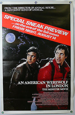 American Werewolf in London Original Movie Poster ROLLED 1981