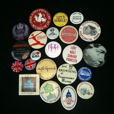 Lot Of 22 Pinback Buttons Mixed #12