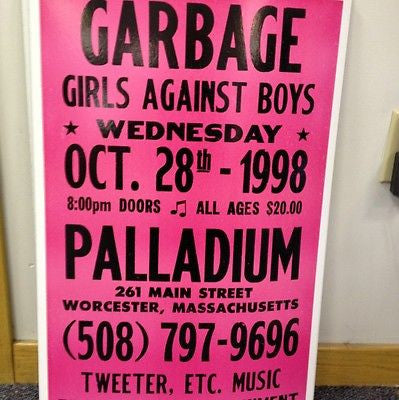 Garbage Original Concert Poster Card Stock
