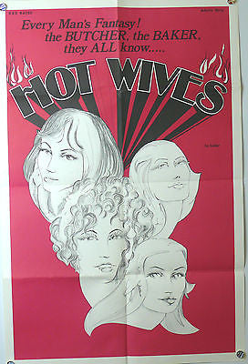 Hot Wives Original X Rated Movie Poster