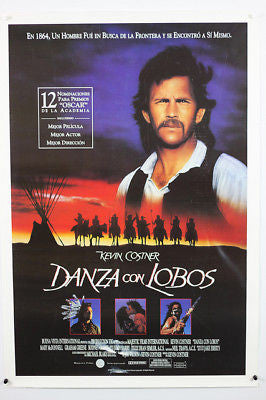 "Dances With WolvesOriginal Movie Poster 26x38""  1 Sheet"