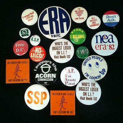 Mixed Lot Of 20 Pinback Buttons-Unions #21