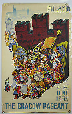 Poland The Cracow Pageant Original Vintage Travel Poster 1939