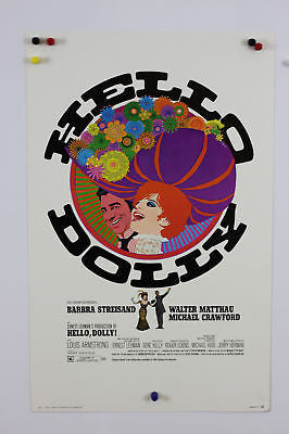 "Hello Dolly Original Movie Poster 14x22"" Window Card"