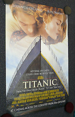 "Titanic Original Movie Poster 40x60"" GIANT U.K. Promo version A"