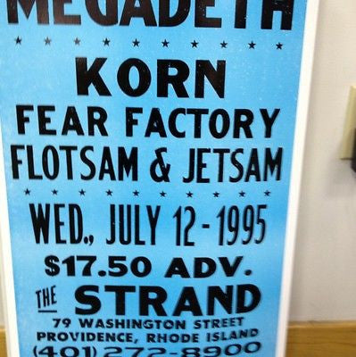 Megadeath And Korn Original Concert Poster  Card Stock