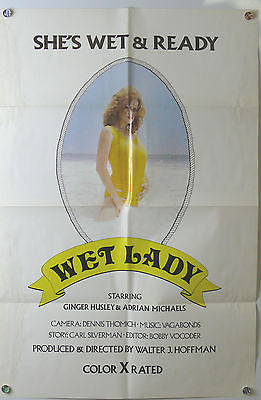Wet Lady Original X Rated Movie Poster