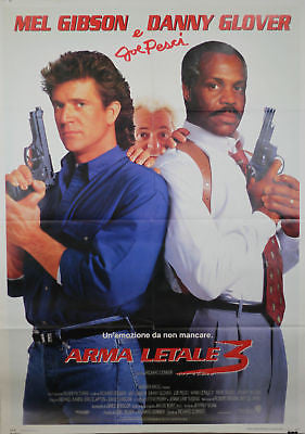 Lethal Weapon 3 GIANT SIZE Italian Movie Poster