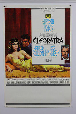Cleopatra Elizabeth Taylor 1963 Original Movie Poster