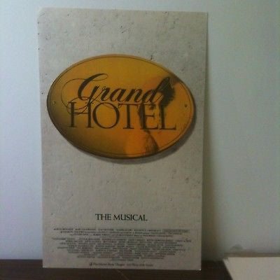 Grand Hotel Broadway Theater Poster