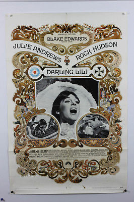 Darling Lili Julie Andrews 70's Original Movie Poster