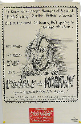 Poodle With A Mohawk Book Promo Original Poster