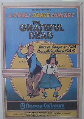 Grateful Dead Swell Dance Concert Poster 1980's? hard-to-find