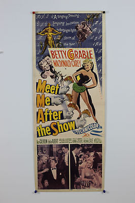 Betty Grable Meet Me After  Show Original Movie Poster